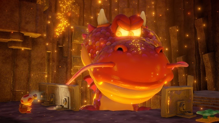 Captain Toad niveau dragon