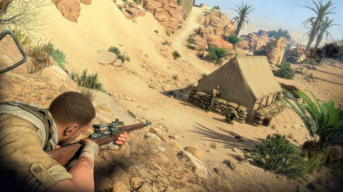Sniper-Elite-III-Prone-vs-Tent-Guard